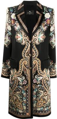 Etro Satin Paisley-Print Coat