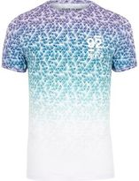River Island MensWhite and blue geo print muscle fit T-shirt