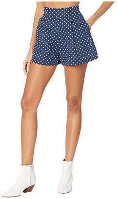 WeWoreWhat Etoile Shorts (Estate Blue) Women's Shorts