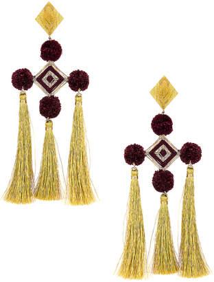 Mercedes Salazar Nazar Earrings in Burgundy | FWRD