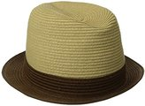 San Diego Hat Company San Diego Hat Co. Men's Paper Fedora Hat with Contrast Colored Brim