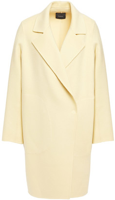Theory Brushed Wool And Cashmere-blend Coat