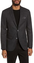 Sand Men's Trim Fit Wool & Cotton Blazer