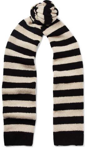 Dries Van Noten Striped Merino Wool-Blend Scarf