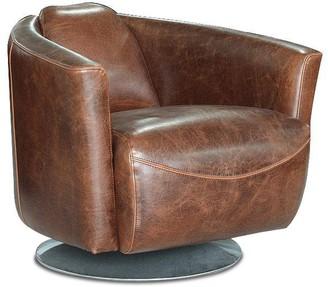 Apt2B Ginsburg Swivel Club Chair CHESTNUT LEATHER