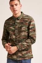 21men 21 MEN Snap-Button Camo Print Shirt