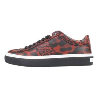 Jimmy Choo Red Leather Trainers
