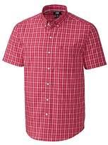 Cutter & Buck Men's Medium Plaid Easy Care Button Down Short Sleeve Shirts