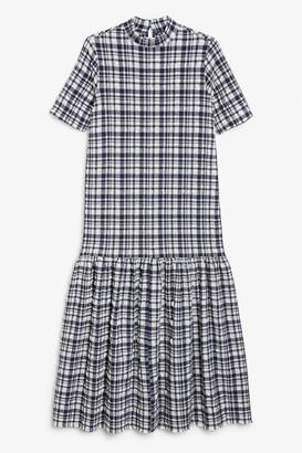 Monki Seersucker maxi dress