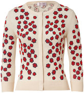 L'Wren Scott L\'Wren Scott Cream-Multi Embroidered Cashmere-Blend Cardigan