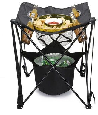 """Mind Reader Tailgating 23"""" Square Folding Table"""