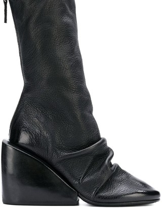 Marsèll Draped Wedge Ankle Boots
