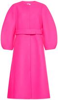 DELPOZO Belted Voluminous Wool Coat