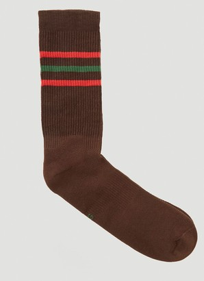 Gucci Striped Logo Socks