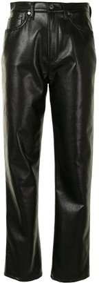AGOLDE Straight Leg Faux Leather Trousers