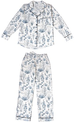 Phriya Women's Gray Circe's Garden Long Pajama Set