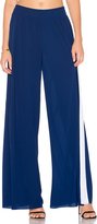 Norma Kamali Side Stripe Elephant Sweatpant