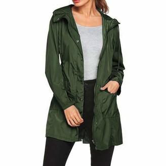 Celucke Womens Plus Size Rain Jacket Coat