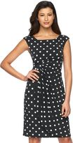 Connected Apparel Women's Dot Faux-Wrap Dress