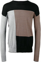 Diesel Black Gold striped detail jumper