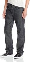 Akademiks Men's Monroe Raw Denim Fanback Pocket Jean