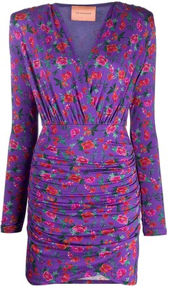 Andamane Floral-Print Ruched Mini Dress