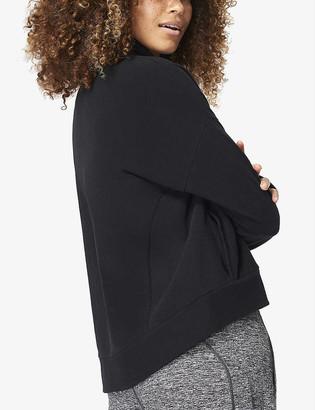 Sweaty Betty Harmonise Luxe recycled cotton-blend fleece sweatshirt