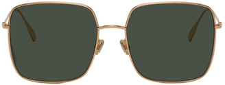 Christian Dior Gold and Green DiorStellaire1 Sunglasses