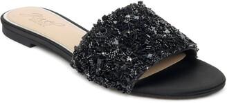 Badgley Mischka Noland Embellished Slide Sandal