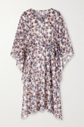 Marysia Swim Yucca Belted Printed Cotton-gauze Kaftan - Ivory