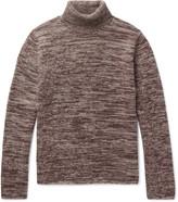 Massimo Alba - Athos Mélange Cashmere Rollneck Sweater