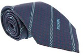 Missoni Micro Floral Teal Woven 100% Silk Tie.