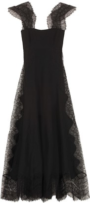 Givenchy Lace Detail Crepe Dress