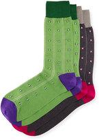 Punto Two-Pair Diamond Striped Socks