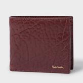 Paul Smith Men's Damson Heavy Grained Leather Billfold Wallet