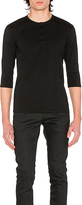 CLOT Chinese Henley 3/4 Tee in Black. - size XL (also in )