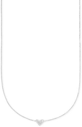Kendra Scott Heart 14k Pendant Necklace in White Diamonds