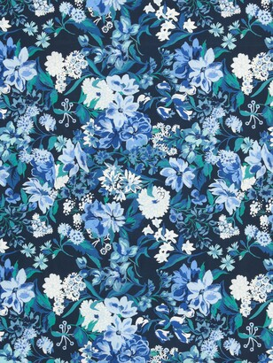 John Lewis & Partners Large Floral Print Fabric, Blue