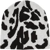 Baja East Leopard-intarsia cashmere beanie