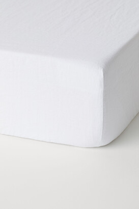 H&M Washed linen fitted sheet