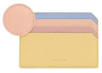 Roksanda Dot Bi Colour Leather Cardholder - Womens - Yellow Multi
