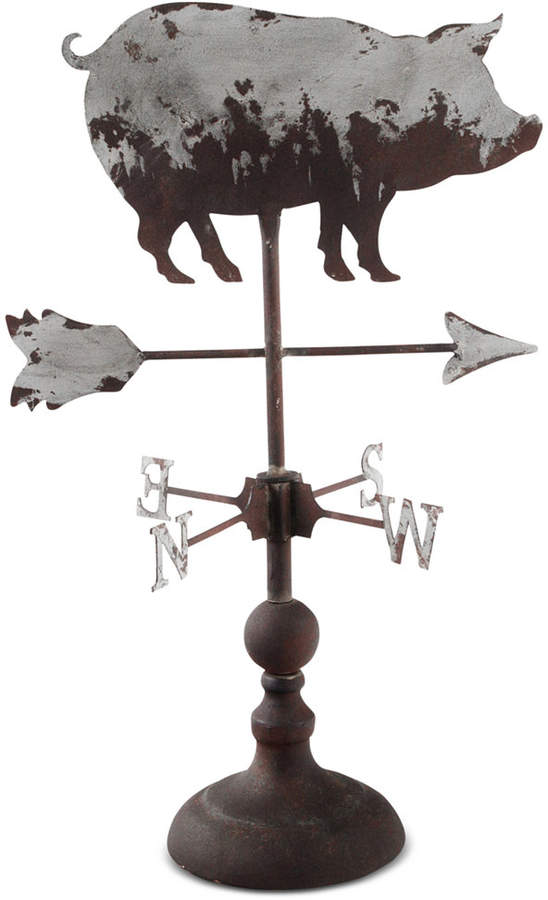 Home Essentials Decorative Galvanized Pig Weather Vane