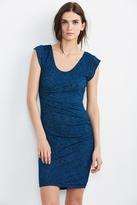 Abena Texture Knit Cap Sleeve Dress