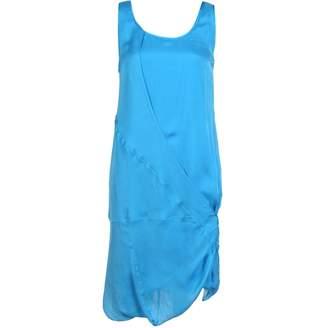 Helmut Lang \N Blue Silk Dresses