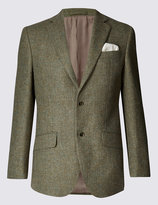 Marks And Spencer Pure Wool 2 Button Barleycorn Jacket