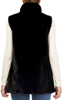 Gorski Mink-Fur & Silk Taffeta Reversible Vest