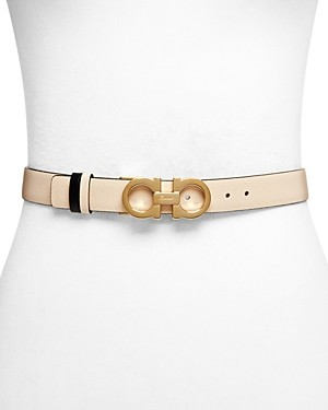 Salvatore Ferragamo Women's Skinny Gancini Belt