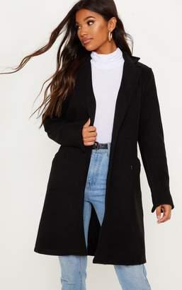 PrettyLittleThing Black Pocket Detail Coat
