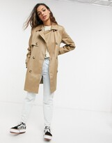 Asos Design DESIGN trench coat in stone