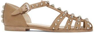 Christian Louboutin Tan Loubiclou Sandals